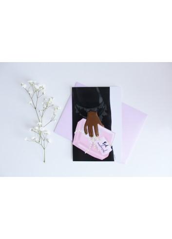 Carte cadeau pour l'aïd (femme noire)