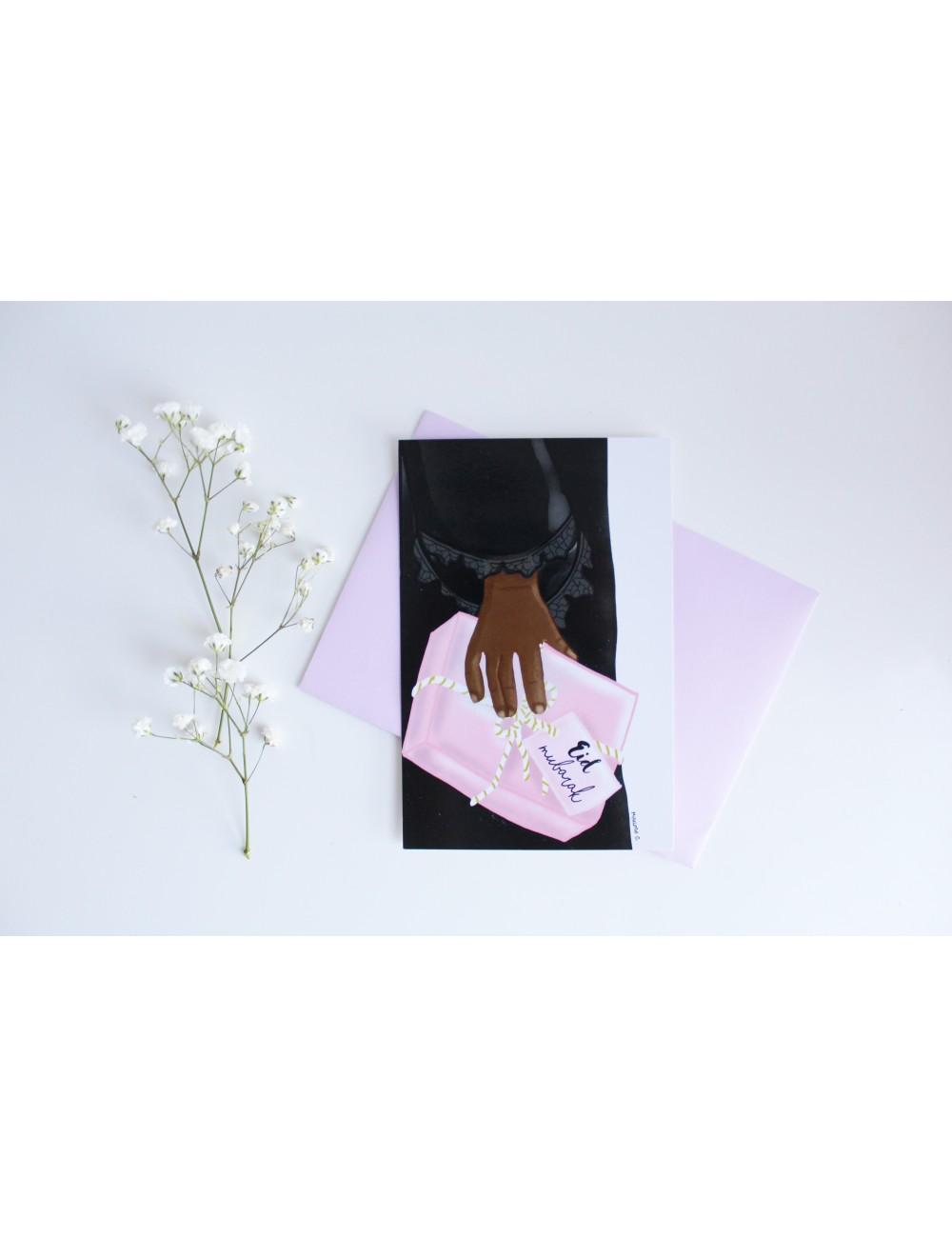 Carte cadeau pour l'Eid (femme noire)